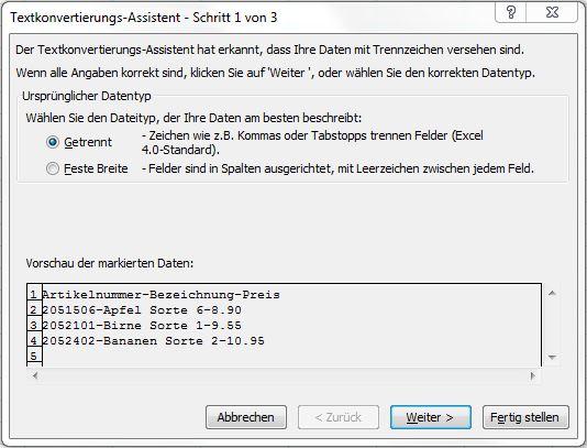 Text in Spalten1