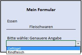 FormularDynamischeDropDownUnterkategorie